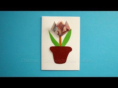 Geldscheine falten Blume für Geldgeschenke – Origami Flower origami ...