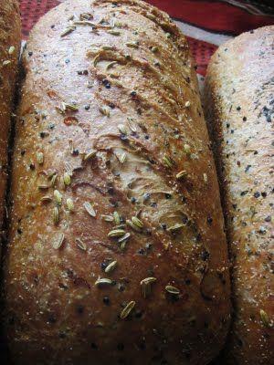 whole grain bread with Kamut ancient wheat, Teff grain, and black Quinoa