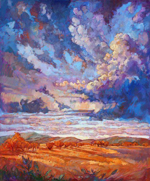 Texan Sky original oil painting dramatic sky by Erin Hanson