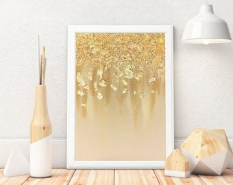 As seen in HGTV magazine gold leaf painting multiple sizes | Etsy
