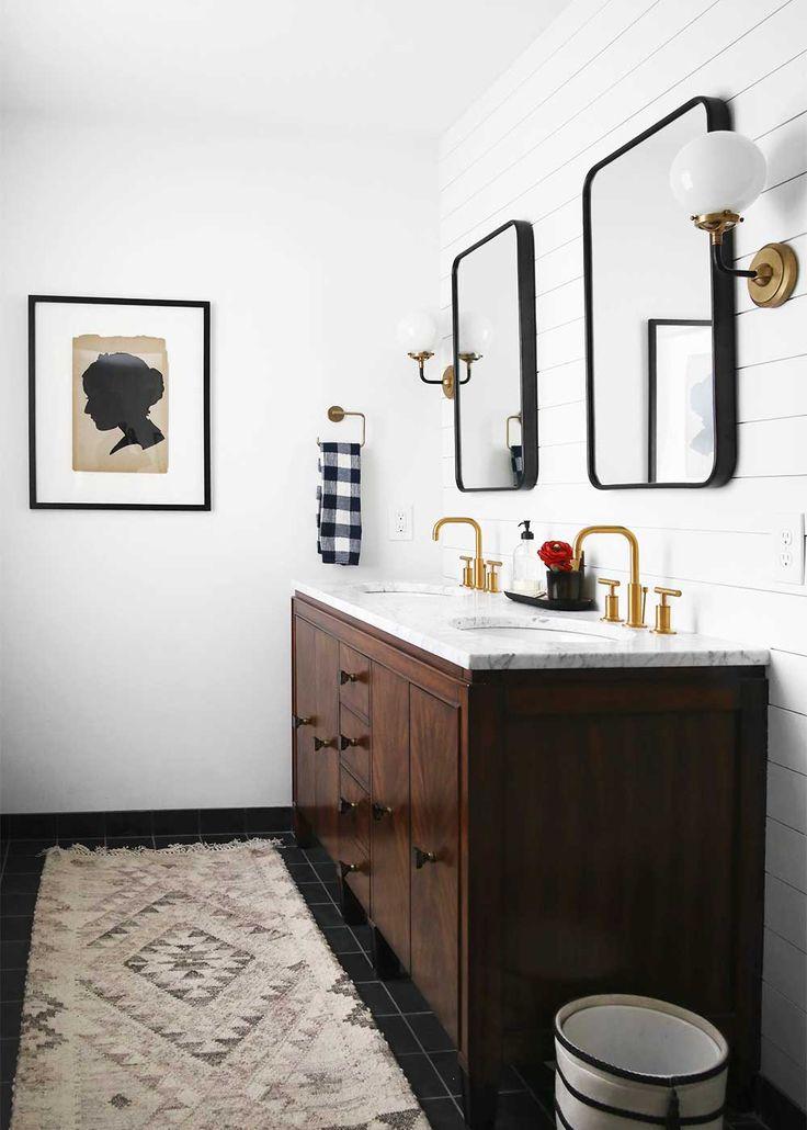 Minimal Masculine Master Bathroom Design from The Fauxmartha