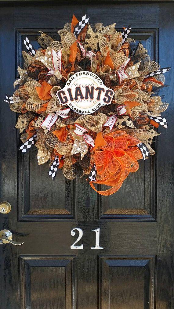Large Mesh Wreath San Francisco Giants MLB by DesignTwentyNineSC