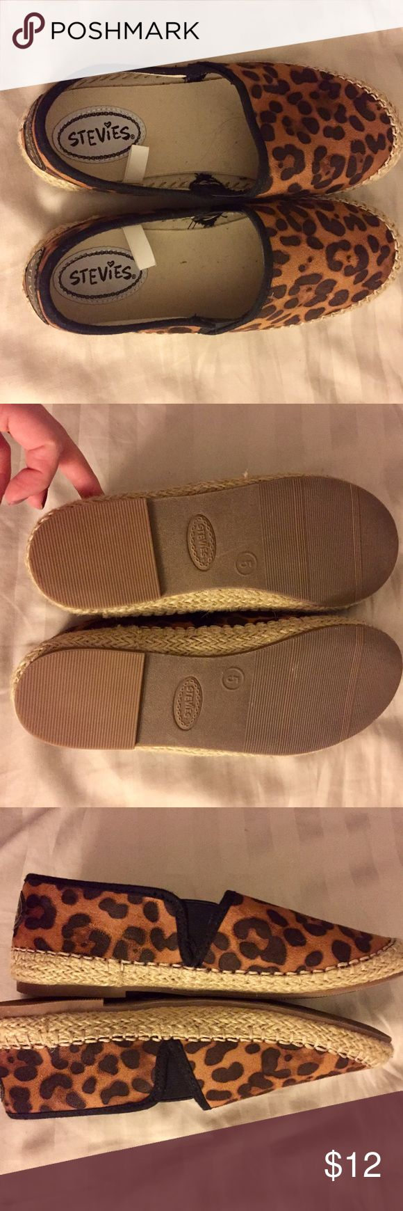 Leopard loafers Brand new never worn say size 5 but fit size 6 Shoes Flats & Loafers