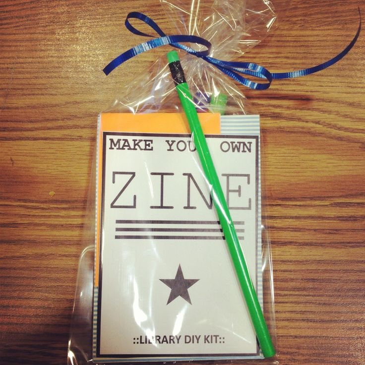 MAKE YOUR OWN ZINE / DIY KIT Made To Give Away At Our Summer Reading Kick OFF  DIY Carnival To Promote Our Upcoming Bookmaking Class.