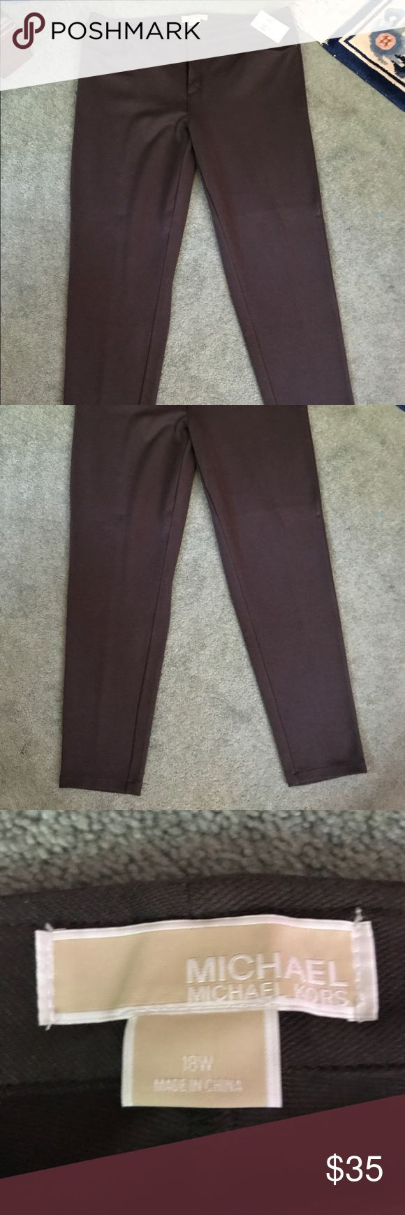 Ladies Michael Kors Knit Pants BRAND NEW Michael Kors Ladies Brown Knit Pants size 18. These are BRAND NEW! Please feel free to ask any questions. MICHAEL Michael Kors Pants Trousers