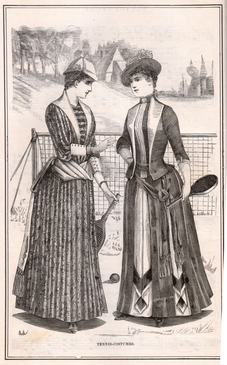 Tennis costumes from peterson s magazine june note the bustles in a tennis dress i love the try winning wimbledon in that sharapova