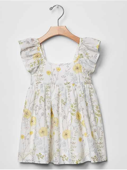 Baby Gap spring floral flutter dress