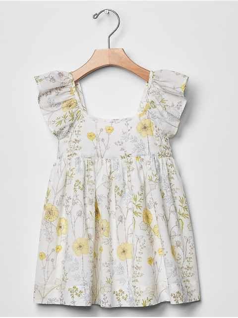 Baby Gap spring floral flutter dress