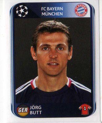 FC BAYERN MUNICH - Jorg Butt 278 PANINI UEFA Champions League 2010-2011 Football Sticker