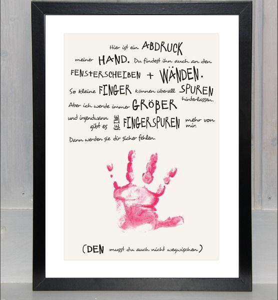 Für Mama - Handabdruck - Print, von bei.werk ∞ things made by hand and shaped by age auf DaWanda.com
