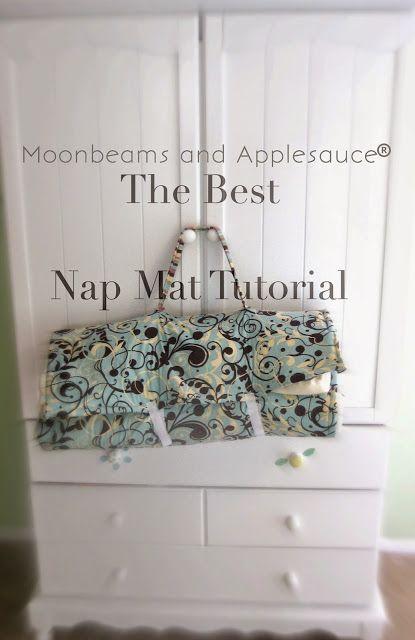 Moonbeams and Applesauce: Moonbeam's Nap Mat Tutorial