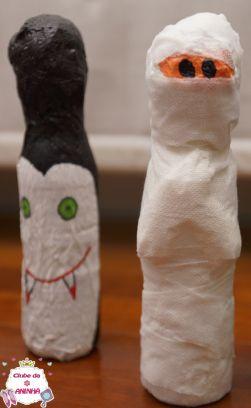 Boliche assustador. Feito com material reciclado, ideal para animar as crianças nas festas do Dia das Bruxas (Halloween). Decoração para crianças.   #manualidades #diy #artesanato #handcraft #halloween #diadasbruxas