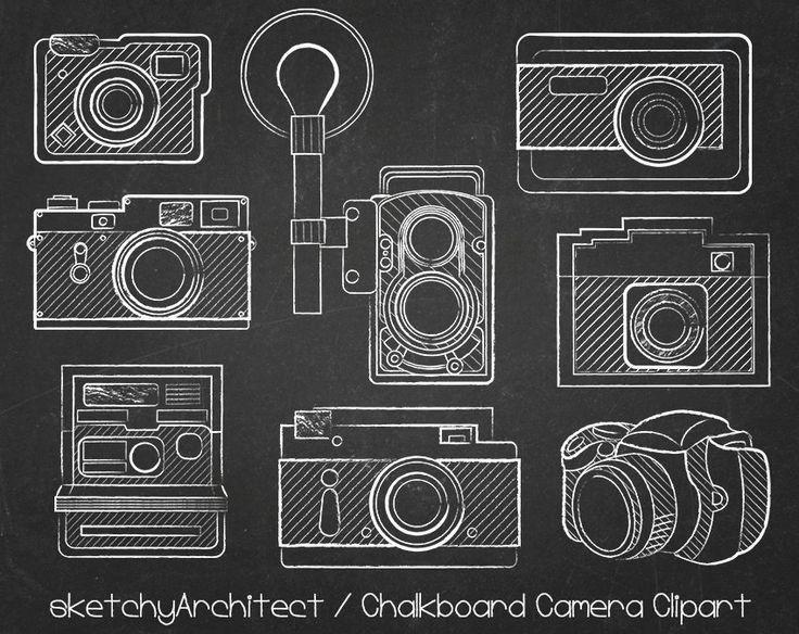 chalkboard camera clipart   digital   instant download clip art of cameras or cell phones clip art of camera image