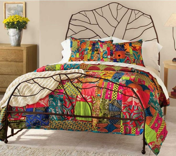 Using a batik-like process, an arts-based women's cooperative in Ghana produces these ravishing wax print cotton duvets. Exuberant traditional African motifs are juxtaposed to create a symphony of color. Revenues contribute to medication, testing and education for HIV/ AIDS, and enables the workers to lead self-sustaining lives. Set includes one duvet and two shams.