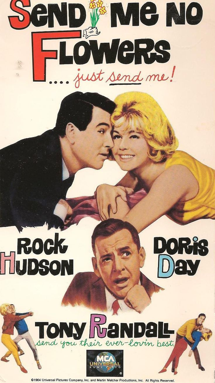 Rock Hudson and Doris Day in Send Me No Flowers.