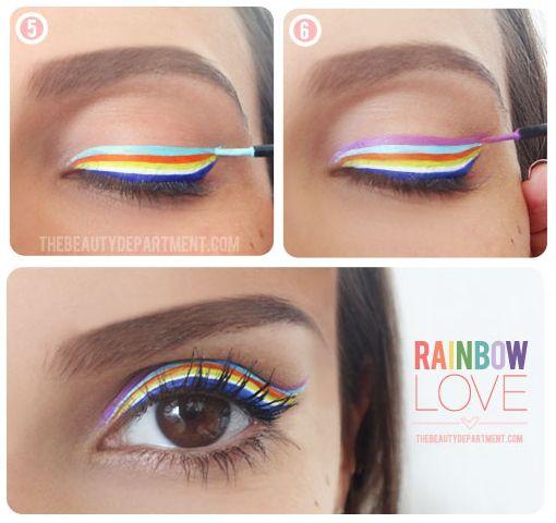 Delineador arcoíris:   17 Formas de delinearte los ojos sin parecer un payaso