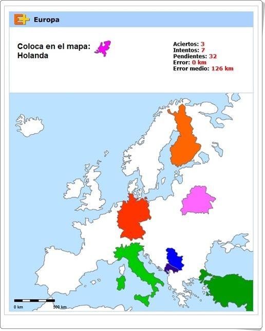 """""""Puzzle de países de Europa"""" (Geografía de Primaria y Secundaria)"""