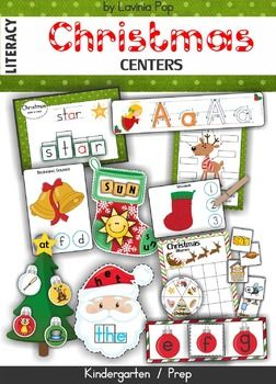 Christmas+Literacy+Centers  This+unit+is+included+in+my+Christmas+MEGA+BUNDLE!+Please+do+not+purchase+this+unit+if+you+have+already+purchased+the+mega+bundle!  About+this+book: This+book+contains+a+collection+of+games+and+activities+intended+for+use+in+centers+and+small+groups+with+children+in+Kindergarten+(Prep).