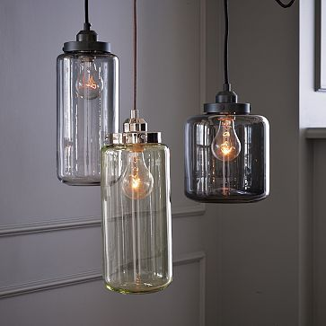 glass jar lighting!