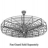 """Leading Edge Fan 60001 Industrial heavy duty ceiling fan 60"""" 120 volts"""