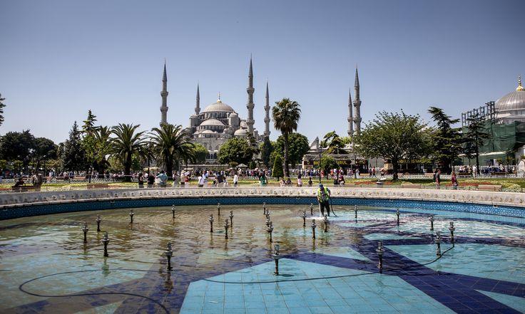 https://flic.kr/p/BWsxnj   Istambul#water #sky #blue #temple #needles #domes