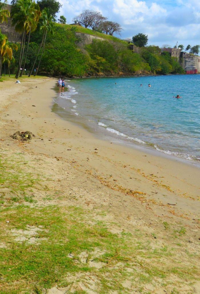 A small beach close to Fort De France, Martinique.