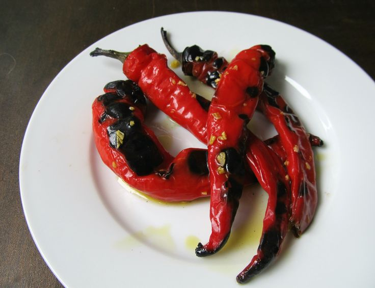 Jimmy Nardello Italian Peppers Grilled