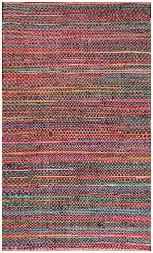 Rugsville Multi Chindi Stripe Handmade Flatweave Rug 21178 #rugsville #Contemporary