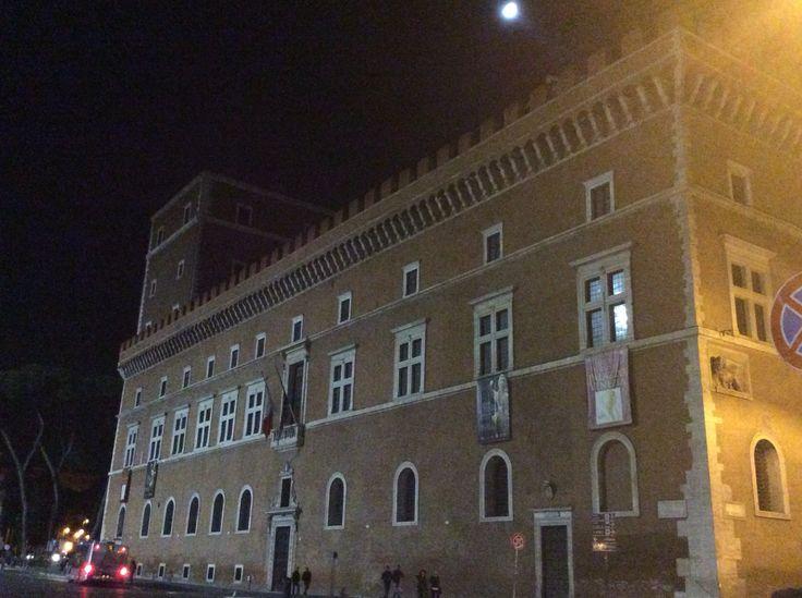 Balcón Musolini, Roma, Italia