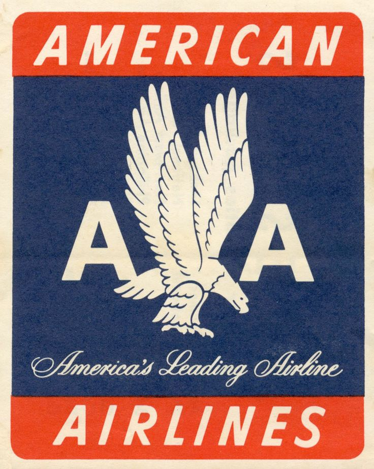 Vintage American Airlines sticker/label Labels // Travel