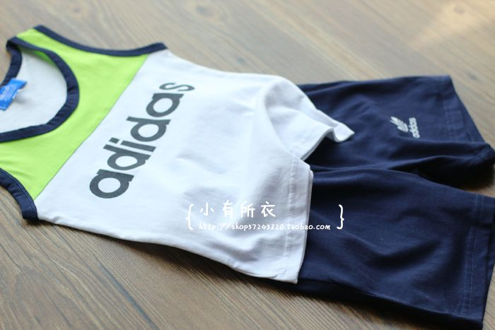 Время коробки домой хлопка жилет шорты спортивный костюм летом тонкие модели мальчик ребенок - Taobao