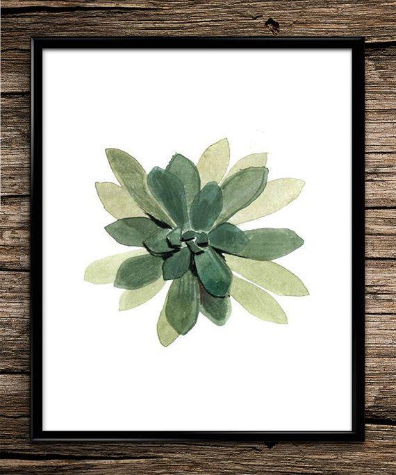 Watercolour Botanical Modern Prints by UniquelyGiftedArt on Etsy