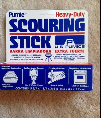 Use Pumice Stick To Clean Toilet Ring