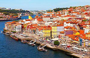 Обои Португалия Дома Реки Мосты Причалы Корабли Порту Города