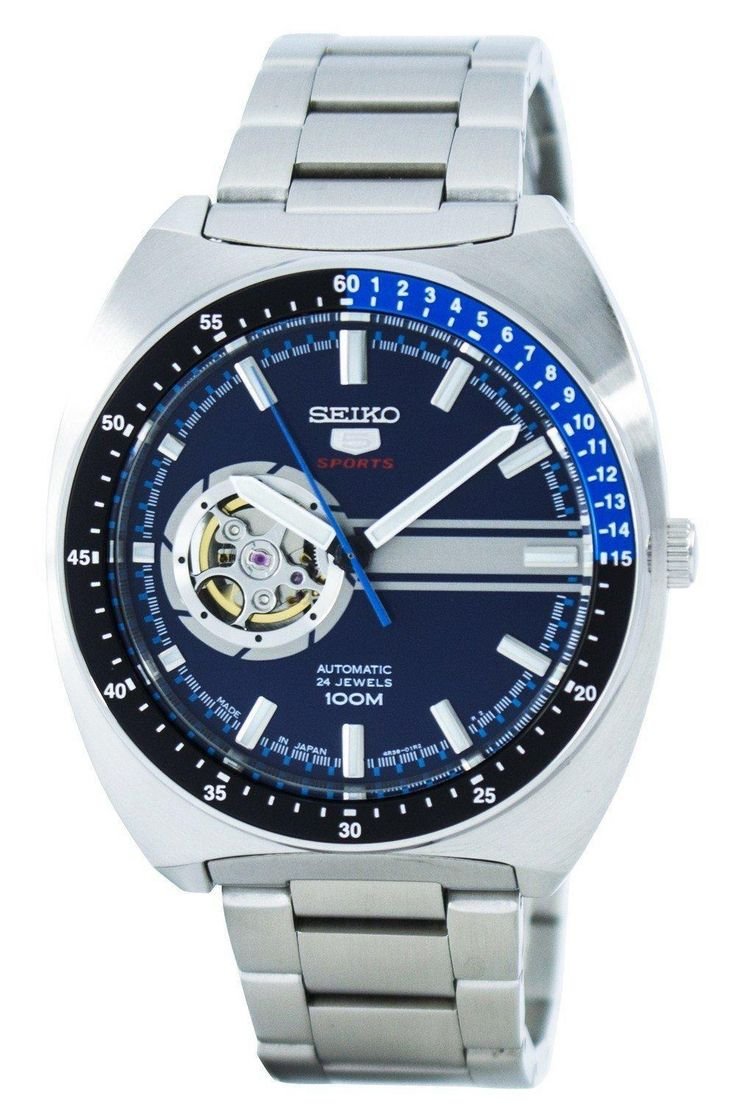 Seiko 5 Sports Automatic 24 Jewels Open Heart Dial Japan