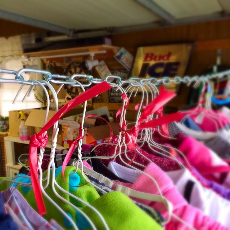 how to organize baby clothes for a garage sale