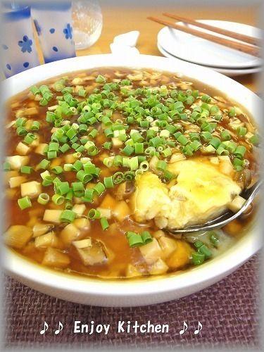 時短レシピ賞】を受賞!レンジで簡単♪きのこと豆腐のふんわり卵♪甘酢 ...