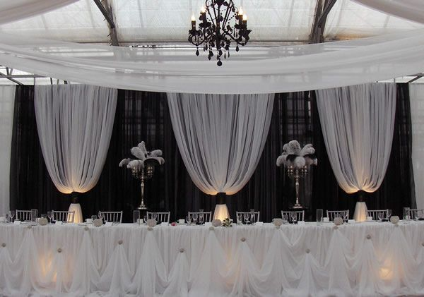 Professional Wedding Backdrop Kit W Pipe Drape Valence 3 PANEL 6 10ft TALL