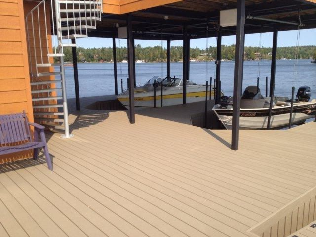 High quality wpc composite decking passed for marina dock