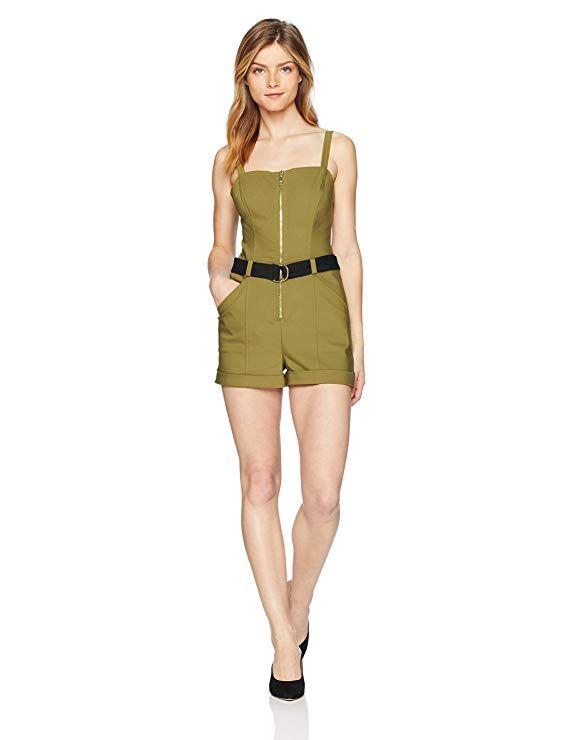 b7831c25f5a GUESS Women s Sleeveless Sage Romper Pants