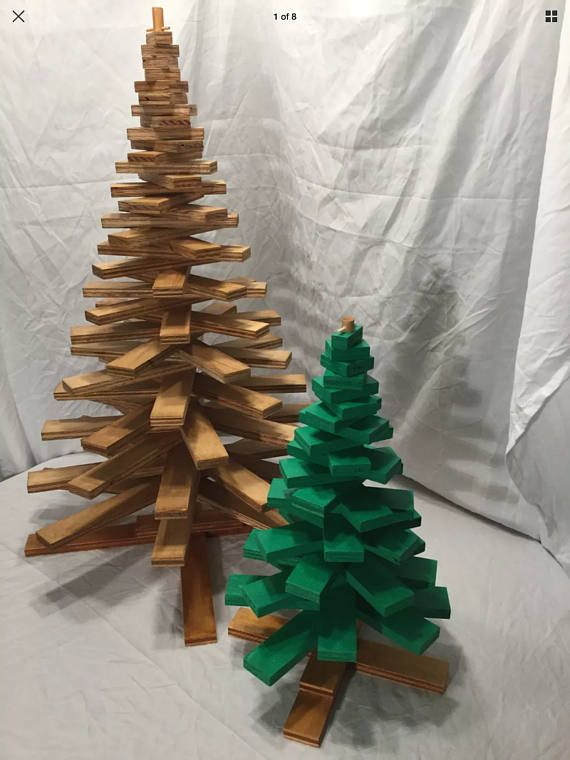 Wooden Christmas Tree Plans shows you how to make 2 different size Wooden Christmas trees #Christmastree #woodenChristmastree #Christmas #woodworkingplans #woodworking #Christmasdecorations
