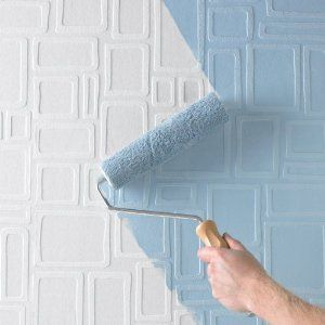 Paintable wallpaper! For a textured or pattern effect. Great idea!