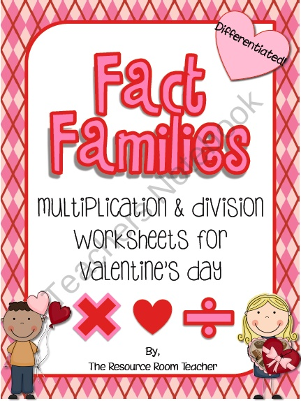 Fact Family Valentine's Day Worksheets product from The-Resource-Room-Teacher on TeachersNotebook.com