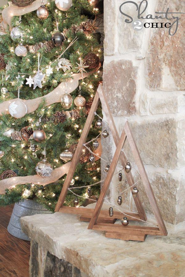 DIY Wooden Ornament Tree | Shanty 2 Chic