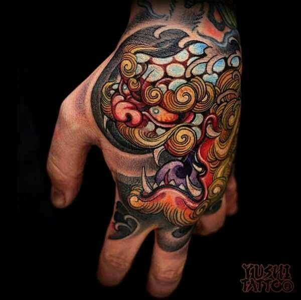 49 Best Ink Me Images On Pinterest: 10 Best Images About Foo Dog Palm Tattoos On Pinterest