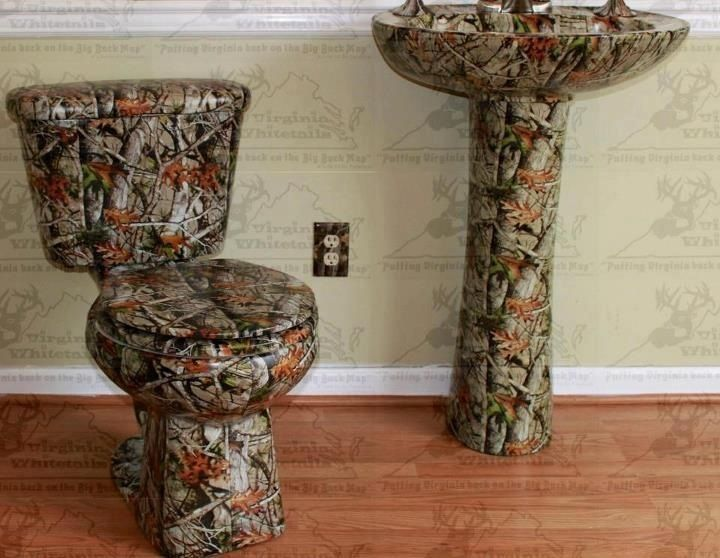 Camo bathroom accessories real rednecks say water for Camo bedroom designs