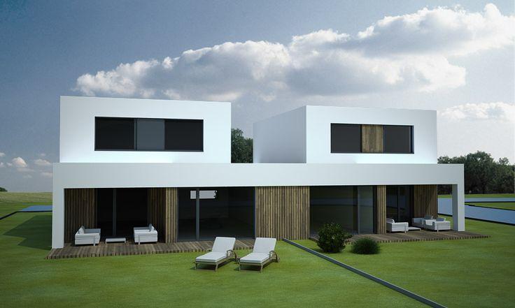 modern double-family house