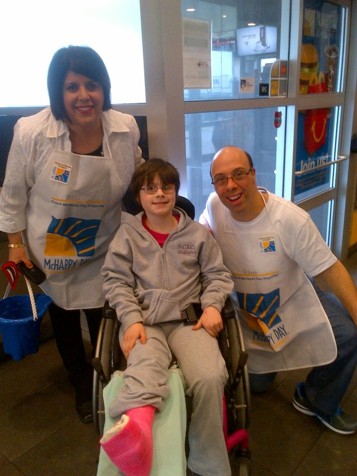 Exec. Dir. Addie Daabous & co-founder of IDEAL WAY, Robert Pio Hajjar, with friend, at local McDonald's, for McHappy Day. May 7th, 2014.