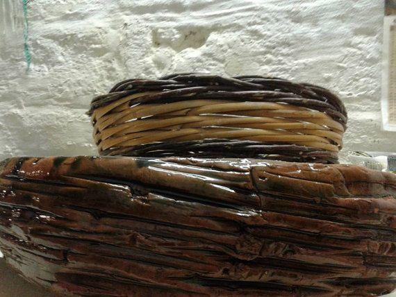Tegame   Cesto Tiella in argilla refrattaria di GiuinLabCeramiche