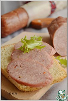 Колбаса домашняя свиная с курицей.
